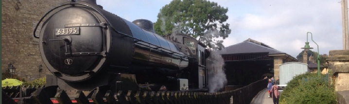 Image of a steam train at Pickering, North Yorkshire Railway